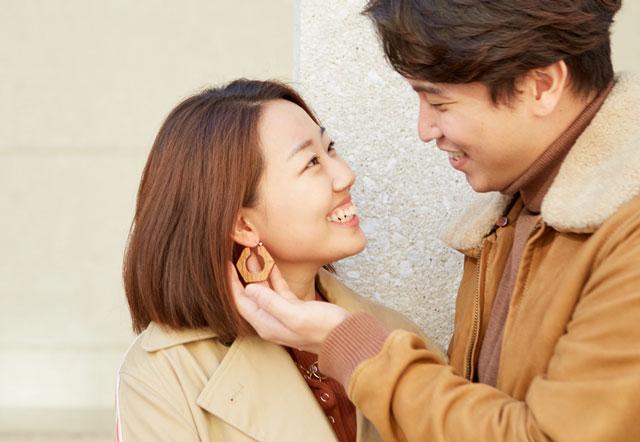 髪の綺麗なカップル