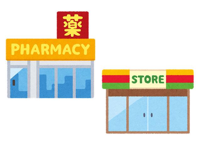 薬局とコンビニ